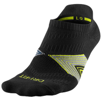 Nike Dri-FIT Cushioned Dynamic Arch NoShow Socks - Black / Yellow