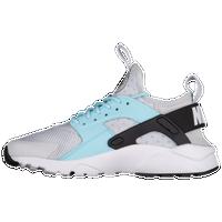 89cc4bb77aa7 Nike Huarache Run Ultra - Girls  Grade School - Grey   Light Blue