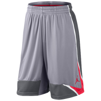 Jordan Phase 23 Shorts - Men's - Grey / Red