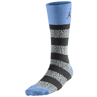 Jordan Elephant Striped Crew Socks - Light Blue / Black