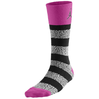 Jordan Elephant Striped Crew Socks - Pink / Black