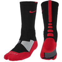 Nike Hyper Elite Basketball Crew Socks - Men's - Black / Red