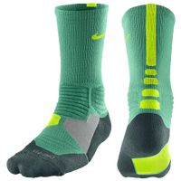 Nike Hyper Elite Basketball Crew Socks - Men's - Green / Dark Green