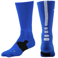 Nike Hyper Elite Basketball Crew Socks - Men's - Blue / White
