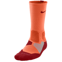 Nike Hyperelite Basketball Crew Socks - Men's - Orange / Red