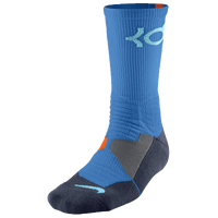 Nike KD Hyperelite Crew Socks - Men's -  Kevin Durant - Light Blue / Orange