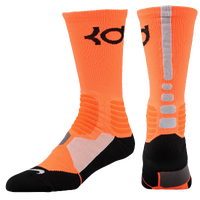 Nike KD Hyper Elite Crew Socks - Men's -  Kevin Durant - Orange / Grey