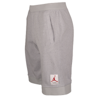 Jordan Retro 4 Shorts - Men's - Grey / Red