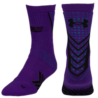 Under Armour Curry Undeniable Socks - Men's -  Stephen Curry - Purple / Black