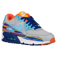 Nike Air Max 90  - Boys' Grade School - Grey / Light Blue