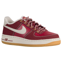 Nike Air Force 1 Low - Boys' Grade School - Maroon / White
