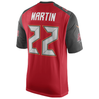 Nike NFL Game Day Jersey - Men's -  Doug Martin - Tampa Bay Buccaneers - Red / Grey