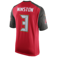 Nike NFL Game Day Jersey - Men's -  Jameis Winston - Tampa Bay Buccaneers - Red / Brown