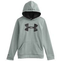 Under Armour Armour Fleece Storm Big Logo Hoodie - Boys' Grade School - Grey / Black