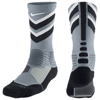 Nike Hyperelite Chase Crew Socks - Men's - Grey / Black
