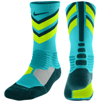 Nike Hyperelite Chase Crew Socks - Men's - Light Blue / Light Green
