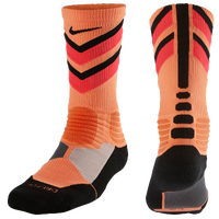Nike Hyperelite Chase Crew Socks - Men's - Orange / Black