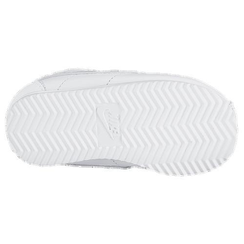 Plain White Nike Cortez