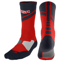 Nike Hyperelite World Tour Crew Socks - Red / Navy