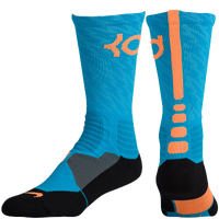 Nike KD Hyperelite Basketball Crew - Men's -  Kevin Durant - Light Blue / Orange