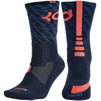 Nike KD Hyperelite Basketball Crew - Men's -  Kevin Durant - Navy / Orange