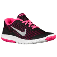 Nike Flex Experience 4 - Girls' Grade School - Black / Pink