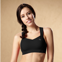 Moving Comfort Juno High-Impact Sports Bra - Women's - All Black / Black