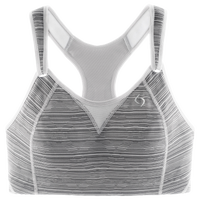 Moving Comfort Rebound Racer Sport Bra - Women's - Grey / White