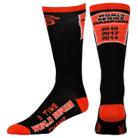 For Bare Feet MLB Championship Socks - Men's - San Francisco Giants - Black / Orange