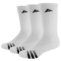 adidas 3-Stripe 3 Pack Crew Socks - Men's - White / Black