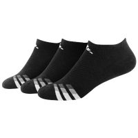 adidas 3-Stripe 3 Pack No Show Socks - Men's - Black / White