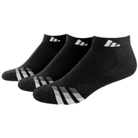 adidas 3-Stripe 3 Pack Low Cut Socks - Men's - Black / White