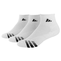 adidas 3-Stripe 3 Pack Quarter Socks - Men's - White / Black