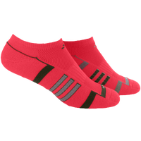 adidas Climalite II 2 Pack No Show - Women's - Red / Dark Green