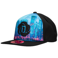 adidas D Rose Lakeshore Snapback Cap - Black / Light Blue