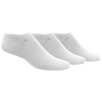 adidas Originals Tonal 3 Pack No Show Socks - Men's - All White / White