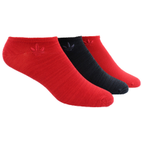 adidas Originals Tonal 3 Pack No Show Socks - Men's - Red / Black