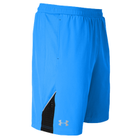 "Under Armour HeatGear 9"" Launch Stretch Woven Shorts - Men's - Light Blue / Black"