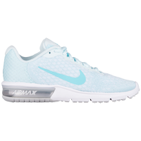 Nike Air Max Sequent 2 - Women's - White / Light Blue
