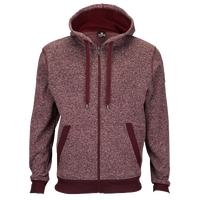Southpole Fleece Full Zip Hoodie - Men's - Maroon / Maroon