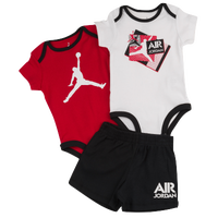 Jordan 3 Piece Creeper & Shorts Set - Boys' Infant - Black / Red