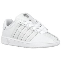K-Swiss Classic - Boys' Preschool - All White / White