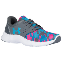 Under Armour Flow Run - Girls' Preschool - Grey / Light Blue