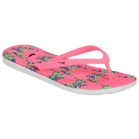 Nike Solarsoft Thong II Print - Women's - Pink / Light Green
