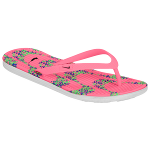 Nike Solarsoft Thong II Print - Women's - Digital Pink/Poison Green/Black