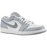 Jordan AJ 1 Low - Men's - White / Grey