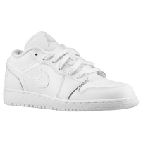 Jordan AJ1 Low - Boys' Grade School - White / Silver