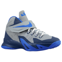 Nike Soldier VIII - Boys' Grade School -  Lebron James - Grey / Navy