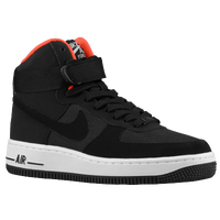 Nike Air Force 1 High - Boys' Grade School - Black / Orange