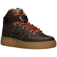 Nike Air Force 1 High - Boys' Grade School - Brown / Tan